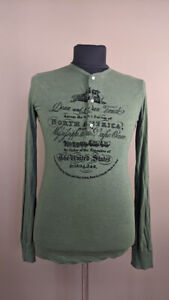 Dsquared2 Men`s Sweater Pullover Long Sleeve Green Size M