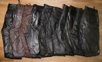 10 LEDERJEANS / Lederhose (n) aus GLATTLEDER schwarz bzw. braun  versch. Größen