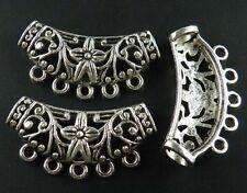 30pcs Silver/Bronze 5Holes Connectors Fit Bracelet 38x20x6mm 8257