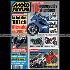 MOTO REVUE N°3508 HONDA VTR SP2 DUCATI 998 SUZUKI 800 MARAUDER LE TOUQUET 2002
