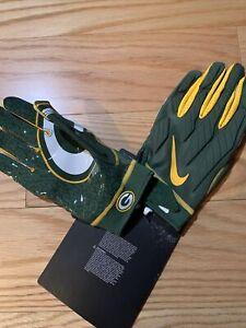 Nike NFL Green Bay Packers Sz XL Superbad Promo NFL Gloves Rare Devante Adams