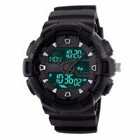 Mens Military Sport Waterproof Date Alarm LED Analog Digital Watch Chronograph