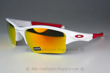 Oakley Quarter Jacket YOUTH Sunglasses OO9200-03 Polished White W/ Fire Iridium