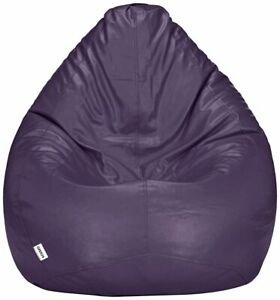 Solimo XXXL Bean Bag Cover Without Beans (Purple)