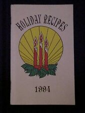 1994 Holiday Delights Cookbook, Home Service Department Iowa Public Service