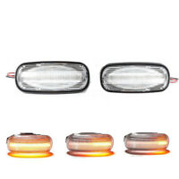 Pair Clear Dynamic LED Side Repeater Indicator Light For Land Rover