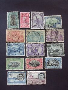 BELGIAN CONGO 15 COLONIAL STAMPS LOT
