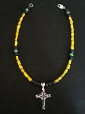 New handmade 18 inch necklace made from all natural stones. With silver clasp.