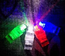 4 X LED Finger Lights Lamps Party Laser Finger Light Up Beam Torch Glow Ring