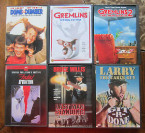 lot (6) MOVIE DVD Dumb Dumber Gremlins 2 Fatal Attraction Last Man Larry Cable