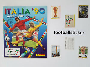 WM 1990, 10 Sticker stickers Panini World Cup 90 Italien Italy football