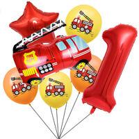 Fire Truck Series Set Aluminum Film Balloon Birthday Theme Party Decoration HOT