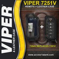 Viper 7251V 2-Way Remote Control WITH Leather Case - 7254V Upgrade for 5204V