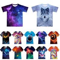 Boys' Girls 3D Printed T-Shirt Kids Teenagers Short Sleeve Tee Shirts 6-16 Years