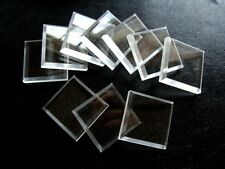 25 Clear Square Mineral Display Bases   1 1/4 ""