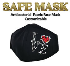 BEDAZZLED Customized Crystal Bling Fashion Sparkle Rhinestone Reusable Face Mask