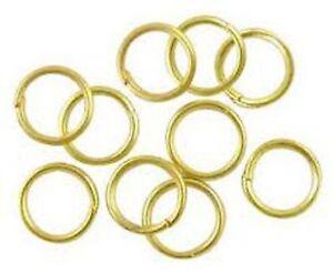 lot 100 anneaux de jonction jaune or apprêt bijoux ring 0,7 mm NEUF