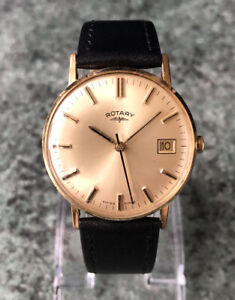 Vintage 1960s ROTARY Manual Wind Gold Plated Watch, Fully Working Cal AS 1901