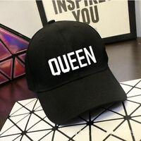 HOT Queen King Baseball Cap Hip Hop Letter Print Caps Couple Snapback Hats