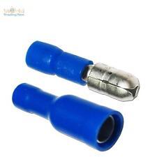 100 Paar Rundsteckverbinder für Kabel 1,5-2,5mm² BLAU