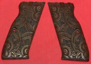 Browning Hi Power Carved Wood Grips