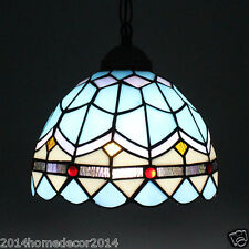 Retro Tiffany Pendant Light Stained Glass Ceiling Lighting Vintage Lights Lamp