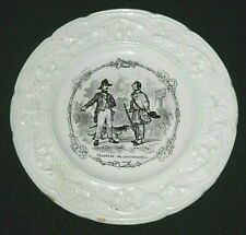 Antique French Plate Chasseur en Contravention Hunter and Enforcer