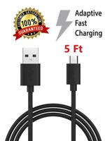 3Pack 5FT Micro USB Data Fast Charger Cable for Samsung Galaxy Note 4 5 S6 S7 LG