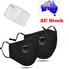 Washable & Reusable  Face Mask W/ Respirator & PM2.5 Filters AU stock