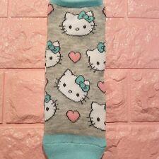 Hello Kitty Socks Ankle Sanrio Anime Cute Kitty Faces Love Hearts Women's 4-10