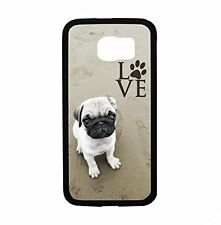 Pug Love With Paw for Samsung Galaxy S6 i9700 Case Cover