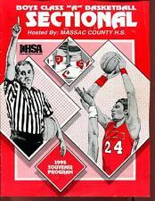 High School Basketball Program Illinois 1995 Tournament Boys AA