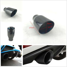 """2.5"""" Inlet Angled Titan Black Stainless Steel Car Exhaust Muffler Tail Tip 175mm"""