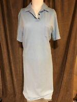 Pretty BURBERRY GOLF Sky Blue Polo Dress Size L