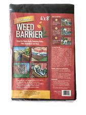 WEED BARRIER All Purpose 4'x8' Landscape Fabric plant blocker control underliner
