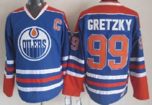 Oilers Blue Wayne Gretzky Jersey M, L, XL, XXL, 3XL