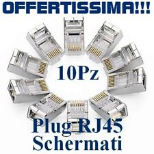 Plug Rj45 schermato per Cavi di rete Lan Ethernet Plug RJ-45 schermato 10X pezzi