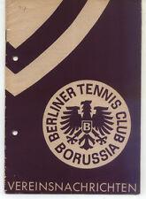 Tennis Borussia Berlin - Vereinsnachrichten - Januar / Februar 1957