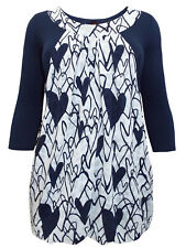 Plus Size Printed Layered Rucnched Panel Drop Pocket Tunic By INP Size 16-28
