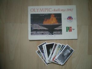 OLYMPIC CHALLENGE 1992, BROOKE BOND EMPTY CARD ALBUM & SET OF CARDS