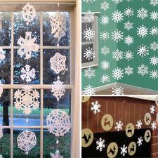 12Pcs Christmas Snowflake Decoration Xmas Tree Ornaments Hanging Party Decor New