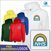 NHS Rainbow Logo hoodie with Zip