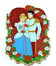 Jumbo Rare Le 100 Disney Pin✿Princess Cinderella Prince Rose Wedding Marriage