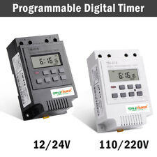 Programmable Digital Timer Switch Time Relay Control 12-220V DC Din Rail