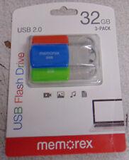 Memorex USB Flash Drive 16GB - 3 Pack.