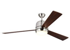 "Monte Carlo Owen Integrated LED 60"" Ceiling Fan Brushed Steel"