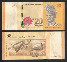 2012 MALAYSIA RM20 BANKNOTE PREFIX AA (UNC)