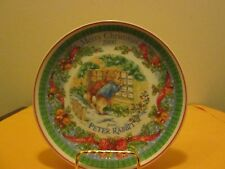 """Wedgwood Merry Christmas 2000 From Peter Rabbit 8"""" Plate New No Box"""