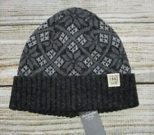 MENS ABERCROMBIE & FITCH GRAY CHARCOAL BEANIE HAT ONE SIZE