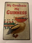 guinness tin sign My Goodness Pelican Vintage Rustic Look New Bar Man Cave Busch